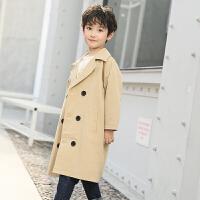 大童外套男童12-15岁男春儿童中长款风衣秋装小孩休闲潮