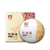 大益普洱茶�~普知味三年�熟茶357g�Y盒�b