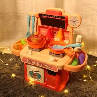�和��^家家�N房玩具套�b仿真做煮�炒菜�N具男女孩生日�Y物