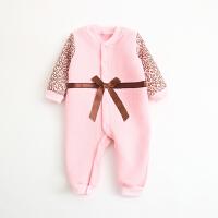 婴儿连体衣服棉衣春1宝宝6新生儿0岁3个月保暖冬装睡衣新年