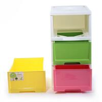 物有物语 儿童收纳柜 塑料带抽屉室内收纳整理柜多层儿童卧室衣物玩具收纳柜