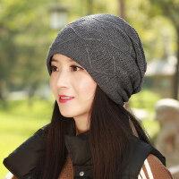 毛线帽子女韩版潮针织简约青年女士休闲护耳保暖帽