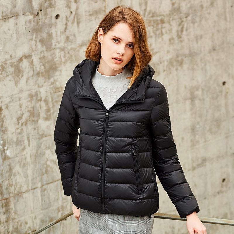 坦博尔2019秋冬新款轻薄羽绒服女短款韩版时尚保暖外套TB19268 下单领劵立减130元