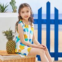 【2件3折:69】巴拉巴拉旗下 巴帝巴帝童装2019春夏新款女童两件套全棉波点无袖背心套装