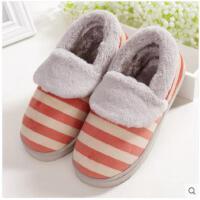 棉拖鞋女全包冬季跟家居家情侣地板室内防滑保暖毛毛拖鞋冬男
