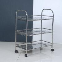 不锈钢置物厨房层架落地收纳储物家具浴室客厅架子货架家用三层
