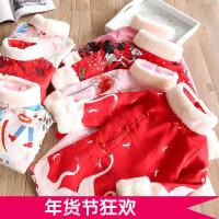 女童新年装 2017冬季新款儿童夹棉盘扣旗袍裙唐装 公主裙连衣裙