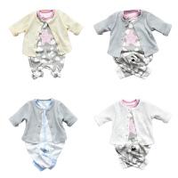 婴宝宝衣服儿童套装01岁5个月新生儿季冬装春款衣服两件套