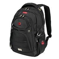 商务背包时尚双肩包休闲书包户外旅游包电脑包男女SW9507 黑色