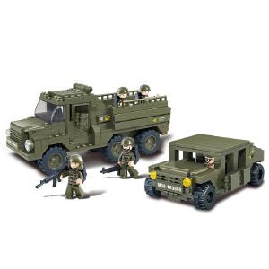 【当当自营】小鲁班陆军部队2军事系列儿童益智拼装积木玩具 陆军游骑兵M38-B0306