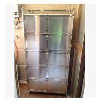 加厚不锈钢煤气灶柜餐边柜厨房碗柜简易橱柜灶台柜铝合金储物柜子 单门