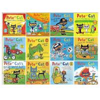 Pete the Cat 皮特猫系列 英文原版 平装绘本 6本全套装 廖彩杏书单 附贴纸