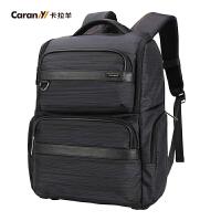 卡拉羊电脑双肩包男士商务包休闲旅行背包大容量旅游包男包CS5743