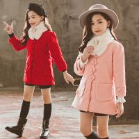 女童呢子衣秋冬款韩版外套中大童儿童装毛呢大衣