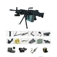 绝地求生玩具M249尼龙大菠萝连发电动*机枪 m416吃鸡玩具枪