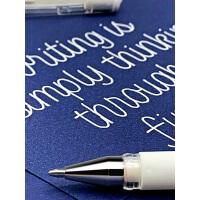 纵向书写 日本uni三菱Signo系列Umn153白色高光笔1.0mm�ㄠ�中性笔