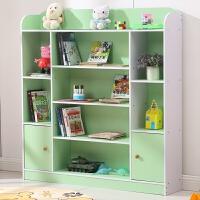【满减优惠】儿童书架置物架幼儿书报架学生简易现代小书柜带门卡通儿童玩具架