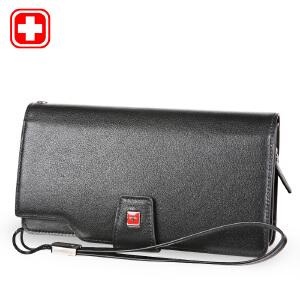瑞士军刀商务大容量搭扣拉链手拿包商务钱包时尚潮BW660224