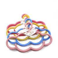 康丰Y9006 可爱云朵防滑无痕塑料衣架 居家糖果色晾衣架 创意挂衣架 晒衣架5个装