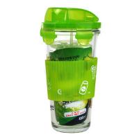 "GlassLock三光云彩乐扣玻璃水杯摇摇杯�""�套PC318A 450ml绿色"