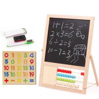 【限时抢】木丸子木制磁性拼图双面写字板多功能双面画板早教益智儿童玩具