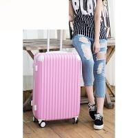 糖果色行李箱女可爱学生万向轮拉杆箱24寸旅行箱小清新密码箱子 粉红色 20(可登机)