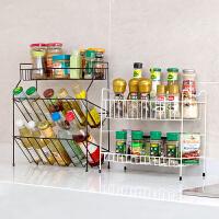 居家家 铁艺多层调料架厨房用品置物架 台面落地调味料架子收纳架