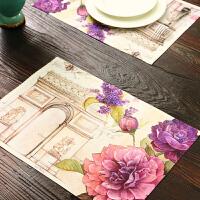 Evergreen爱屋格林欧式布艺餐垫2片装 涤纶隔热垫 防滑西餐垫桌垫碗垫餐布