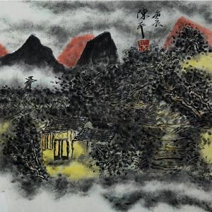 陈平 中央美院中国画学院副院长、博士生导师 国画《暮色》
