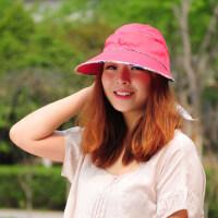 韩版防晒大沿帽骑车两用出游太阳帽春夏空顶帽遮阳帽女