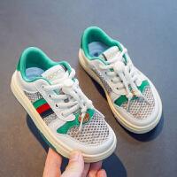 女童鞋子儿童网面透气网鞋夏季绿色大童百搭女孩运动鞋