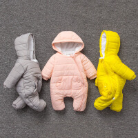 20180603075621614婴儿冬装新生儿外出抱衣服0-3个月男女宝宝6加厚秋冬季哈衣连体衣
