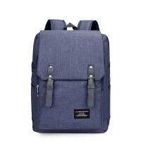 商务背包双肩包男女14寸双肩电脑包韩版时尚学生书包大容量