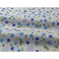 棉斜纹小碎花花布清新面料床品服装睡衣宝宝棉布料 藕色 13#小蓝花半米
