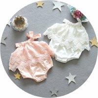 3个月婴儿夏装女三角哈衣无袖薄款男宝宝连体衣服6爬服纯棉0-1岁9