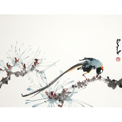 S1384   赵少昂《花鸟》(附出版《赵少昂*小品集》P99页)
