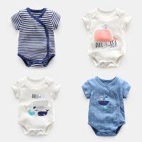 婴儿衣服夏季初生儿连体衣薄款哈衣包屁衣男女宝宝