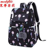 茉蒂菲莉 双肩包女 新款女双肩包休闲背包 女学生透气书包印花防水耐磨旅行包