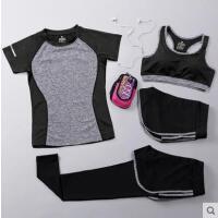 瑜伽服运动套装 跑步健身服 四件套速干 背心长裤