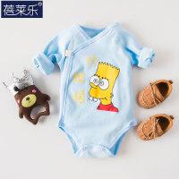 婴儿连体衣服宝宝冬季包屁衣0岁三角哈衣外出服春装新年