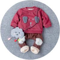 男宝宝0冬季2冬装1岁半婴儿童装4女童衣服6个月5长袖8运动套装潮9