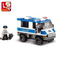 【当当自营】小鲁班城市特警系列儿童益智拼装积木玩具 特别押运车M38-B0273