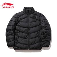 李宁短款羽绒服男士冬季新款韦德系列外套立领紧身鹅绒运动服