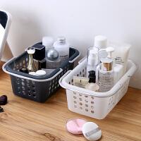 手提洗澡篮子浴室浴筐女澡篮装洗漱用品的洗浴蓝收纳框宿舍用 灰色