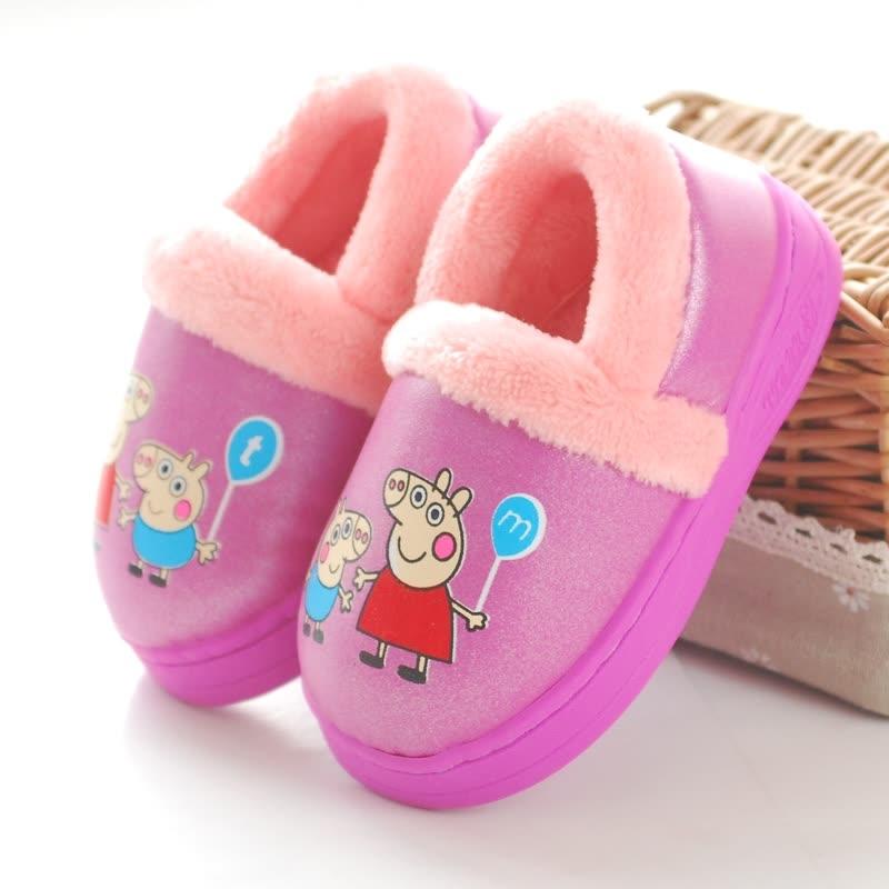卡通棉拖鞋冬季包跟男童女童宝宝保暖室内棉鞋PU皮面防水防滑 发货周期:一般在付款后2-90天左右发货,具体发货时间请以与客服协商的时间为准