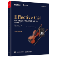 Effective C#编写高质量C#代码的50条有效方法 第3版英文版 C#编程基础教程书籍 C语言编程程序设计书籍