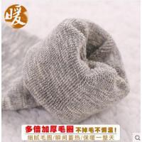 加厚袜子男士纯棉日系毛圈加绒保暖中筒睡眠袜毛巾地板袜防臭