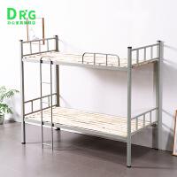 加厚双层铁床上下铺员工床学生钢制宿舍高低床铁架钢木床 其他