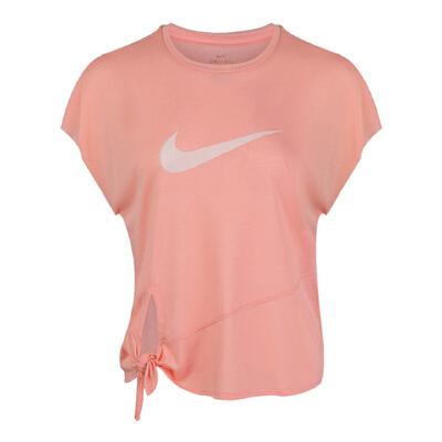Nike耐克2019年新款女子AS W NK DRY SIDE TIE SS TOP GRT恤CD4333-606 秋装尚新 潮品来袭 正品保证