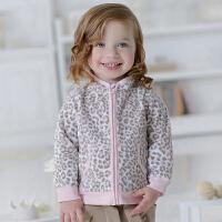davebella戴维贝拉 2017秋装新款女童外套薄款 女宝宝摇粒绒外套